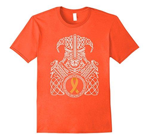Mens CRPS Awareness Warrior - MS Awareness Warrior Tshirt Medium Orange (Ms Awareness Color)