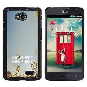 ROKK CASES / LG Optimus L70 / LS620 / D325 / MS323 / NO WHERE - NOWHERE / Delgado Negro Plástico caso cubierta Shell Armor Funda Case Cover