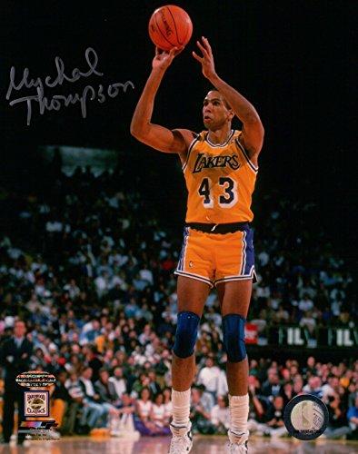 - Mychal Thompson Signed Autographed 8X10 Photo LA Lakers Home Jump Shot w/COA