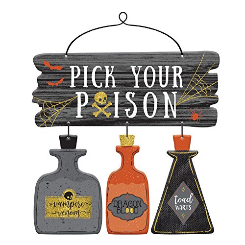 Amscan Pick Your Poison Deluxe Sign, Black -