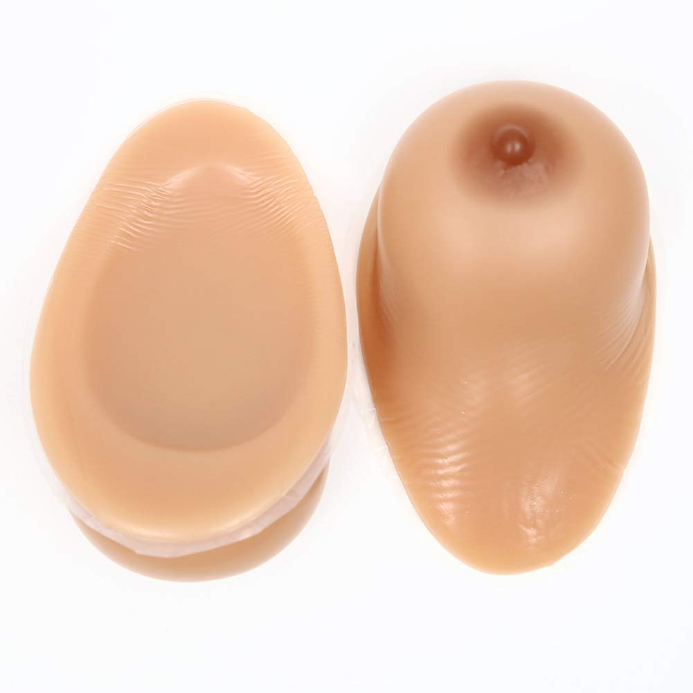 1 Pair Crossdresser Transgender Self-Adhesive Silicone Breast Forms Fake Boobs Waterdrop Shaped Bra Inserts,2,1600g/CupEE/8 * 6 * 3in by Love Life (Image #1)