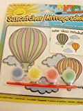Hot Air Balloons Suncatcher Kit Paint Set