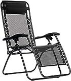 AmazonBasics Zero Gravity Chair - Black (Certified Refurbished)