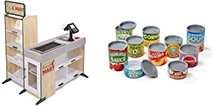 Melissa & Doug Grocery Store & Let's Play House! Grocery Cans