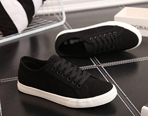 casual scarpe XFF di estive Scarpe scarpe di da basic tela uomo amanti selvatici uomo scarpe stoffa uomini da bianche Nero scarpe rgq7wgXvx
