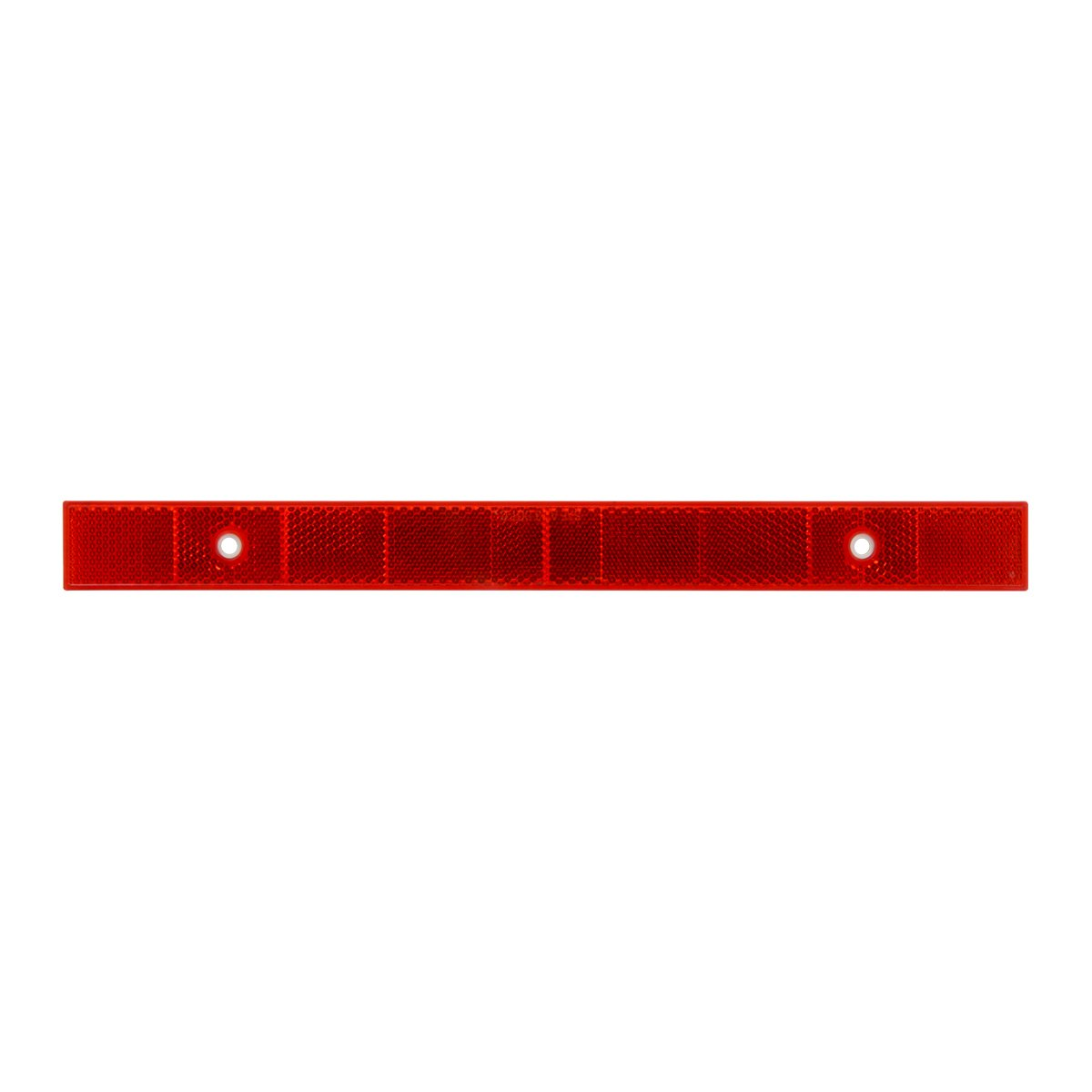 Grand General 80865 Amber 12' Stick-On Reflector Strip with 2 Mounting Holes and Stainless Steel Screws