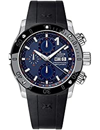 Men's CO-1 45mm Black Rubber Band Steel Case Automatic Blue Dial Analog Watch 01122 3N BUINO