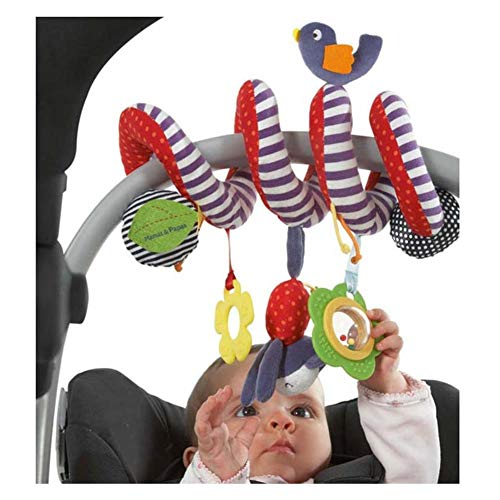 HLOFQs Mamas Papas Stroller Musical Multifunctional Car/Bed/Crib Hanging Born Baby Educational Rattles Mobiles Toys for Babies ()