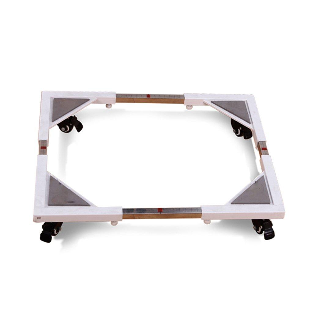 Washing Machine Adjustable Base Multifunction Moveable Trolley For Tumble Dryers, Fridges & Freezers (Color Optional) (Color : White)