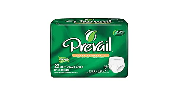 Amazon.com: Prevail - PV511 - Brief Pull Up Sm Youth 20-34 22/Bg 4Bg/Cs: Health & Personal Care