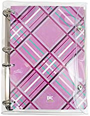 Fichário Mini 1/4 Cristal Rosa com 192 Folhas – DAC 2673