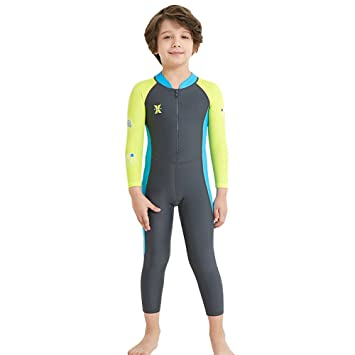 UV Quick-Drying Wetsuit Girls Swimsuits Toddler Kids Sun Protection Swimwear Anti-UV Sunsuit One Piece Surfing Diving Suit UPF 50