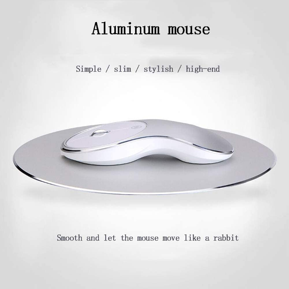 XRFF Wireless Mouse Simple and Stylish Slim high-end Metal Mute Non-Slip Roller Rechargeable Waterproof Wearable Easy to use Home Office arc,Rosegold
