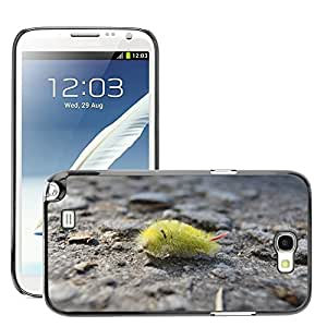 Super Stella Slim PC Hard Case Cover Skin Armor Shell Protection // M00104219 Caterpillar Prickly Nature Butterfly // Samsung Galaxy Note 2 II N7100