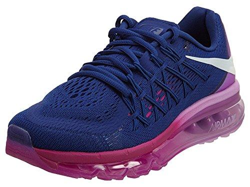 Nike Women's Wmns Air Max 2015, DEEP ROYAL BLUE/WHITE-FUCHSIA GLOW-FUCHSIA, 38.5 B(M) EU/5.5 B(M) UK