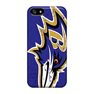 For Iphone 5/5s Premium Tpu Case Cover Baltimore Ravens Protective Case