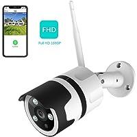 NETVUE 1080P Überwachungskamera Aussen WLAN Kamera Außen IP66 wasserdicht Staubdicht Statische Bullet Kamera mit Nachtsicht,Überwachungskamera per LAN & WLAN Verbindung