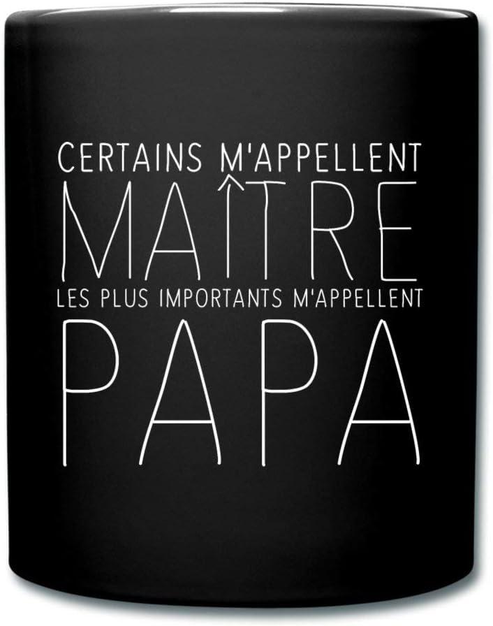 noir Ma/ître Papa Tasse Mug