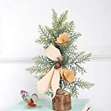 Hisoul Mini Christmas Tree Ornaments Tabletop Trees Snow Ornaments Best DIY Christmas Decoration Gift for Party Home Decoration (C)