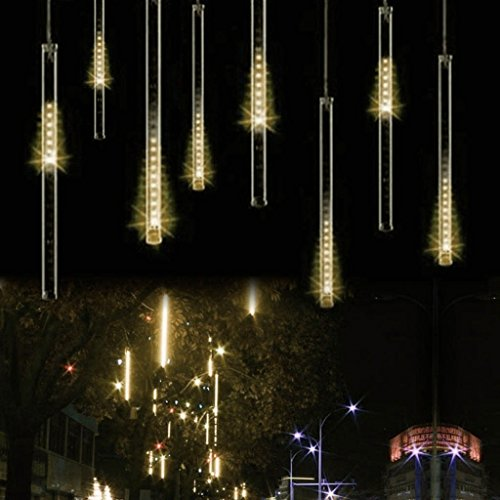 - BIENNA String Lights, LED Meteor 8 Tubes 30 cm Lighting for Home Xmas Wedding Party