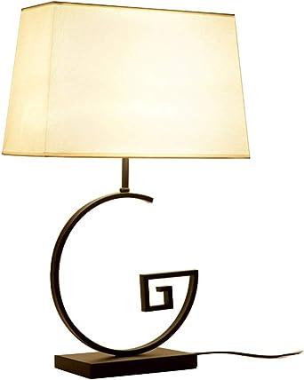 E27 Lámpara de escritorio Dormitorio, Estilo neo-chino Lamparas de ...