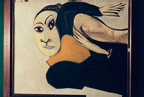 Vintage photo of Pablo Picasso's painting of his mouse, Dora Maar, in 1936.