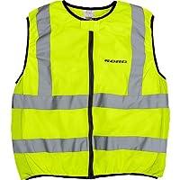 Sicherheits-Schutz Warn-Schutz Road Warnweste Motorrad, reflektierende, gelbe Warnschutzweste mit Reißverschluss, reflektierende Streifen, dehnbare Elemente, Warnweste gelb