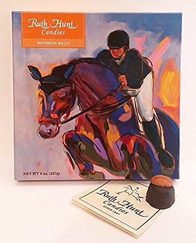 Woodford Reserve Premium Bourbon Balls in a Beautiful Equine Gift Box (16 Candies Per Box) delicious and perfect for holiday gifts by Ruth Hunt