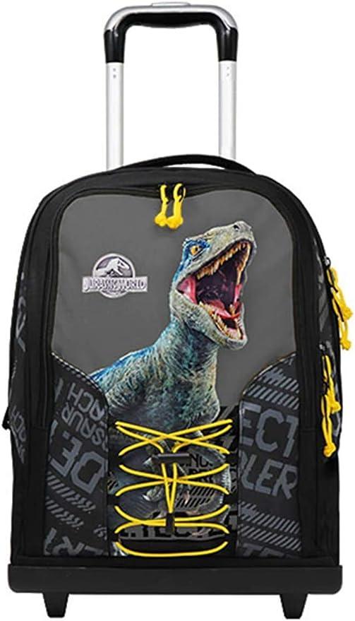 Jurassic world. Trolley Mochila Escolar Double by Gut Nueva colección 2019 + Estuche 3 Cremalleras Completo + Regalo 10 bolígrafos de Colores + Llavero Silbato: Amazon.es: Deportes y aire libre