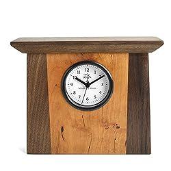 Sabbath-Day Woods Cherry and Walnut American Bistro Mantel Clock