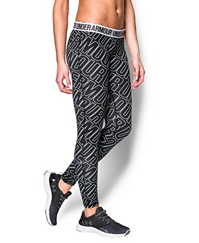 Under Armour Women's UA Favorite Allover Word Mark Legging X-Small Black