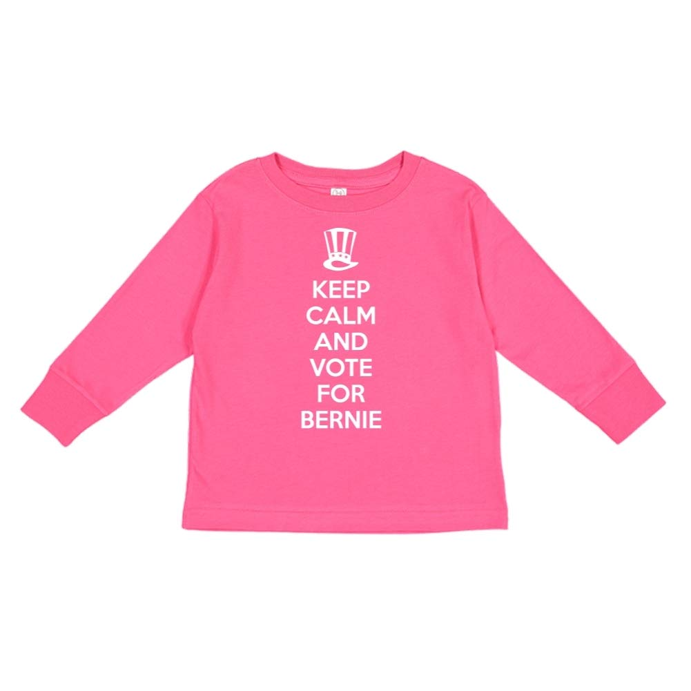 Mashed Clothing Keep Calm /& Vote for Bernie Presidential Election 2020 Toddler//Kids Long Sleeve T-Shirt