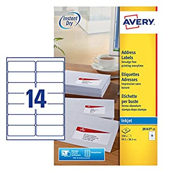 avery self adhesive address mailing labels inkjet printers 14