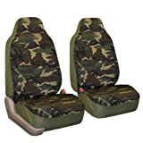 camouflage seat covers for trucks - FH-FB109102 Camouflage Bucket Seat Covers, Airbag compatible, Dark Camo- Fit Most Car, Truck, Suv, or Van