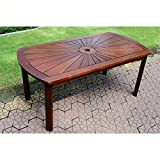 International Caravan VF-4134-IC Furniture Piece Highland Acacia Sunburst Coffee Table