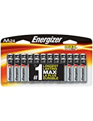 Energizer AA Batteries, Double A Battery Max Alkaline (24 Cou...