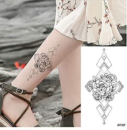 ruofengpuzi Adesivo tatuaggioLápiz Bosquejo Mujeres Temporales ...