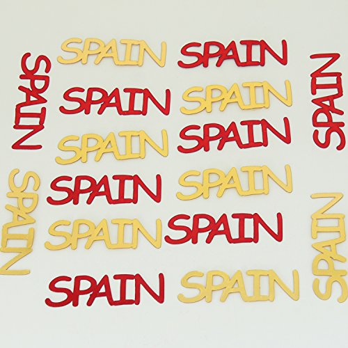 Spain Espana World Cup Metallic Confetti Red, Gold - Approx 80 Pieces #4028 - Free Ship by Jimmy Jems