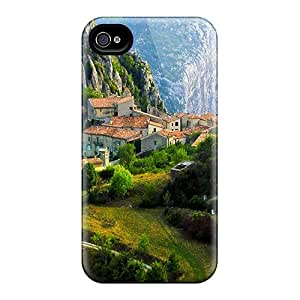 TiffanyLCarver KNJKBbZ7941ftnrn Case For Iphone 4/4s With Nice Houses On The Hill Appearance