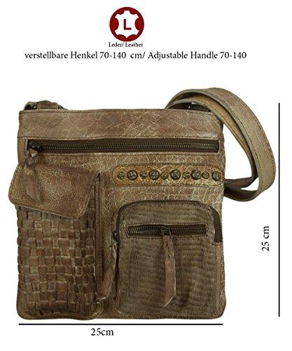 Sunsa, Borsa a tracolla donna Marrone marrone 25x25 cm