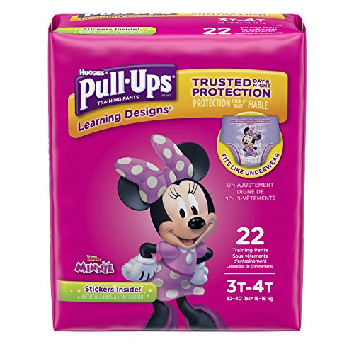 (Pull-Ups Learning Designs for Girls Potty Training Pants, 3T-4T (32-40 lbs.), 22 Ct. (Packaging May Vary))