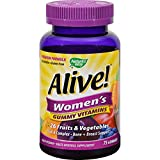 Natures Way Alive - Womens Energy Gummy Multi-Vitamins - 75 Chewables