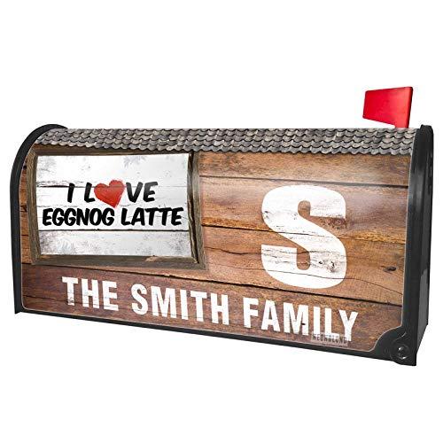 NEONBLOND Custom Mailbox Cover I Love Eggnog Latte Coffee]()