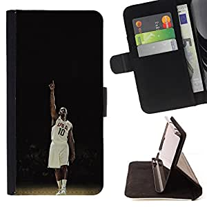 For Samsung Galaxy S3 III I9300 USA 10 Basketball Leather Foilo Wallet Cover Case with Magnetic Closure