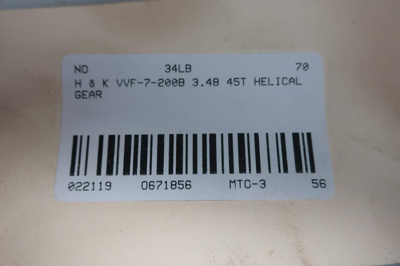 H /& K VVF-7-200B HELICAL Gear 45T