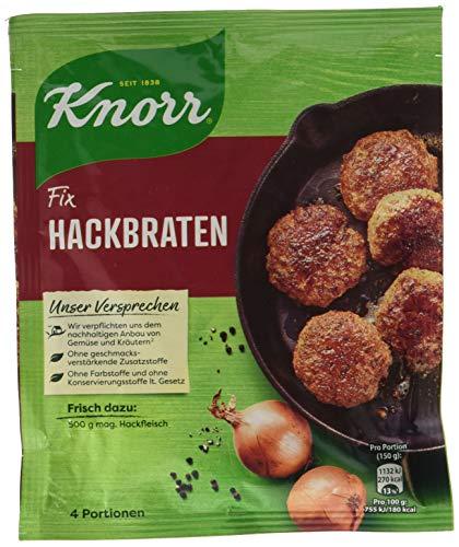 Knorr Fix Würzbasis (für dKnorr Fix Hackbraten mit sorgfältig abgestimmten Gewürzen für 2 Portionenie schnelle Zubereitung Hackbraten ohne geschmacksverstärkende Zusatzstoffe) 4 Portionen