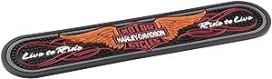 Harley-Davidson Winged Bar & Shield Rubber Beverage Bar Mat, Black HDL-18566