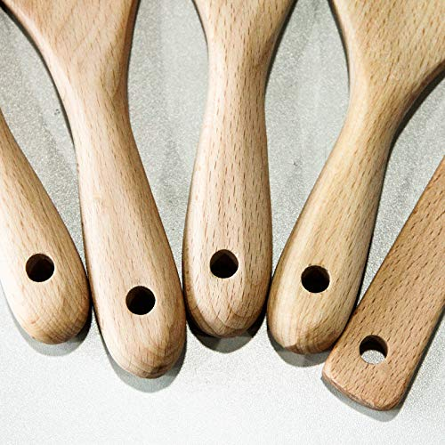 Spurtles Kitchen Tools, Wooden Spurtle Set, Spurtle Set, Wooden Cooking Utensils, Wooden Spoons for Cooking, Spatula Spoon