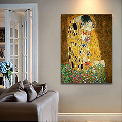 The Kiss by Gustav Klimt Painting Wall Decor