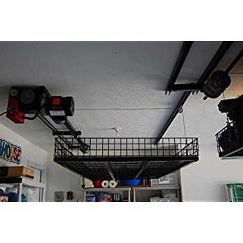 Superb Ceiling Storage Lift Raises 500 Pounds Of Your Items To Ceiling Of Garage,  Huge Space